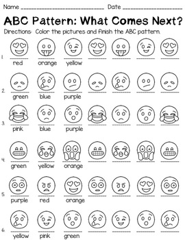 Math Patterns Worksheets Emoji Themed by Kraus in the