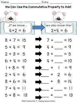 Pauly Polar Bear's Common Core Commutative Property of