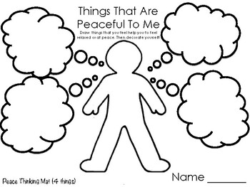 Peace Printables to accompany the book, Finding Peace. by