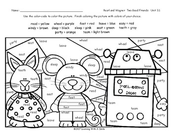 Pearl and Wagner FREE Color by Word Grade 2 Spelling Words