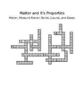 Pearson Elevate Science Vocabulary Crossword Puzzles by
