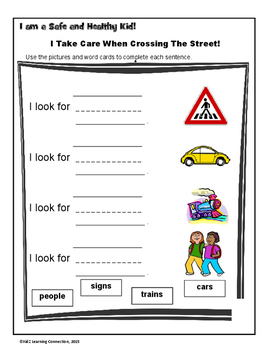 Pedestrian Safety: Sentence Builders by KidZ Learning