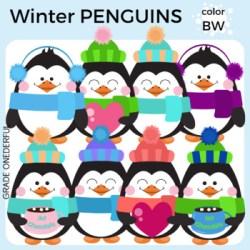 penguin clipart winter cute clip graphic penguins chocolate printable coloured earmuffs okay cu hearts party teacher invitations file grade