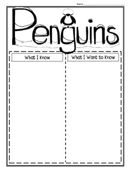 Penguin Research, Report Writing, & Craftivities