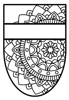 Pennant Bulletin Board Name Banner, Mandala Style, Pattern