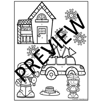 Percent of Change Christmas Coloring Sheet Print or TPT