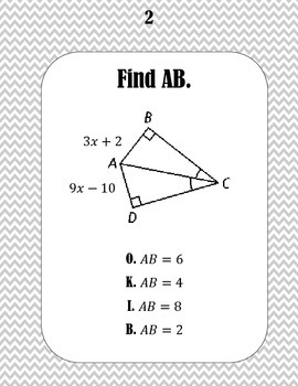 Perpendicular and Angle Bisector Word Scramble by Math