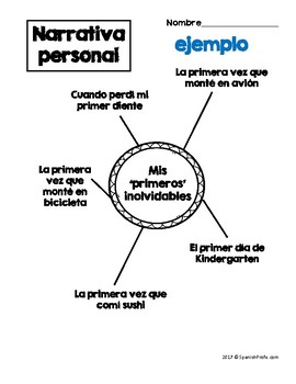 Personal Narrative in Spanish (Narrativa personal) by