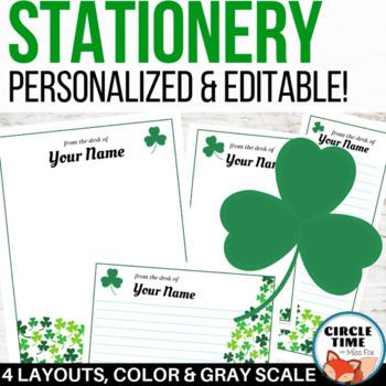 personalized stationery st patrick