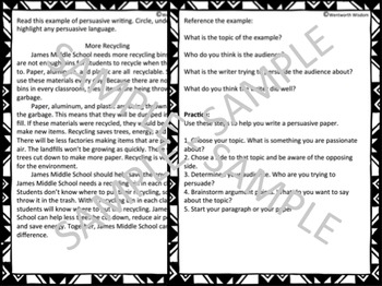 Persuasive Writing Persuasive Text Persuasive Essay