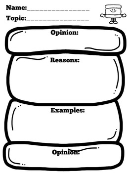 Persuasive Writing Graphic Organizer by Green Apple