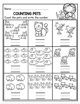 Pet Centers for Math and Literacy {kindergarten} by Miss