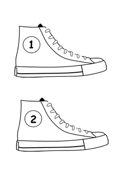Pete The cat/Tennis Shoes with Numbers 2 per page by Sara