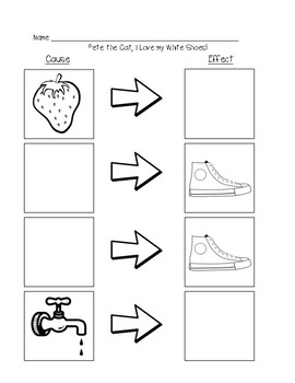 Pete the Cat: I Love My White Shoes! Cause and Effect by