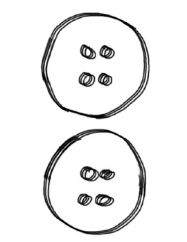 Pete the Cat- Large groovy buttons (black and white) by