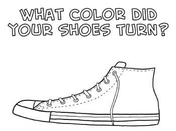 Pete the Cat Shoe Coloring Sheet by Peter Blenski--The