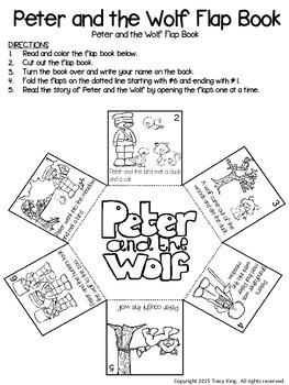 Peter and the Wolf Flap Book by The Bulletin Board Lady