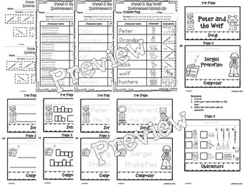 Peter and the Wolf Interactive Worksheets 2 by