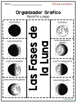 Phases of the Moon Activities IN SPANISH for K-2 by Star