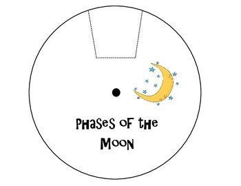 Phases of the Moon Study Wheel by Over the Rainbow in 4th