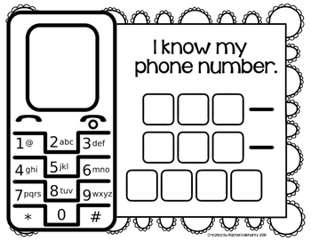 Phone Number Practice by Hopping into Kindergarten with