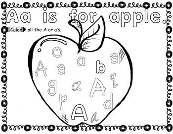 FREE Alphabet Sample of A,B,C Bundle for Kindergarten by