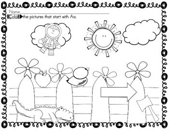 FREE Alphabet Activities for Kindergarten Letter A by