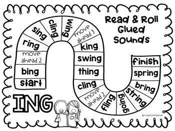 Phonics Board Games: R-Controlled Vowels, Glued Sounds