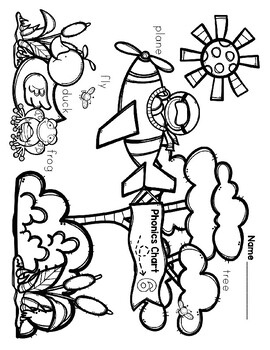 Phonics Chart 6 Puzzle (Bonus Coloring Sheet) (A Beka