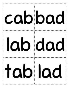 Phonics Flash Cards (CVC, Digraph, Blends, Long Vowel