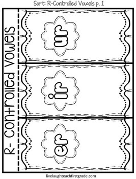 Phonics Interactive Notebook- R- Controlled Vowels e, i
