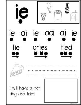 Phonics Notebook: Vowel Teams, Diphthongs, Digraphs, R