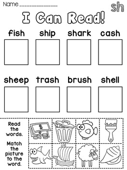 Phonics Center Activity Phonics Worksheets or Homework for