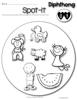 Phonics Prep: Vowel Digraph and Diphthong Worksheets by