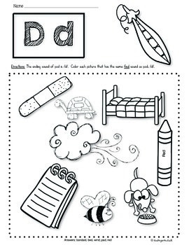 Ending Sounds Worksheets: Phonics Prep Series by