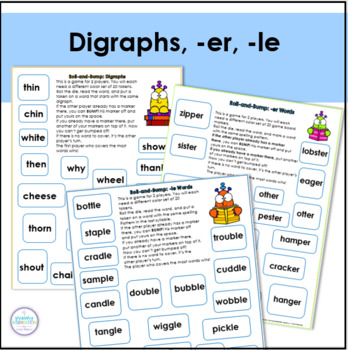 Phonics Bump Games by Primary Inspiration by Linda Nelson