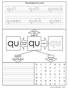 Spalding Phonogram Worksheets Bundle All 70 Phonograms