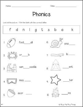 Phonics Worksheet Pack, PHONOGRAMS, Kindergarten & First