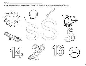 Phonics Worksheets (x10). Letters: S, A, T, P, I, N, M, D