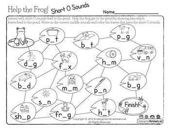 Phonics Worksheets for Kindergarten (70 Worksheets) by