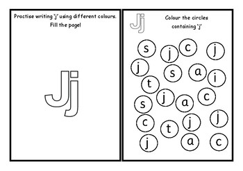 Phonics worksheets x24 Jolly phonics Set 4: ai, j, oa, ee