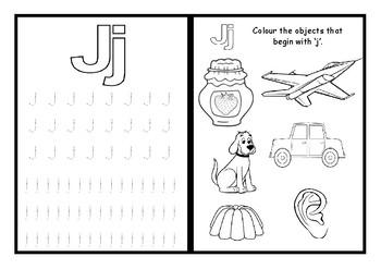 Phonics worksheets x28 Jolly phonics Set 5: q, w, v, y, x