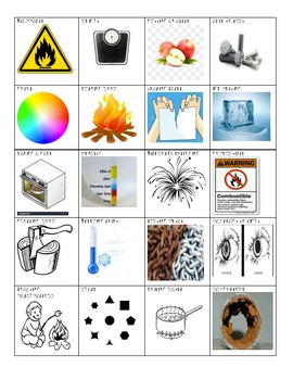 Physical/Chemical Changes and Properties Cardsort by The ...