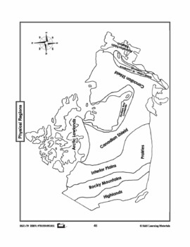Physical Regions of Canada Mapping Activity Gr. 1-3 by On
