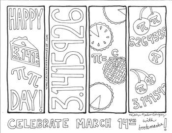 Pi Day Bookmarks Amp Coloring Sheets By Circulating