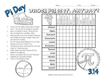 Pi Day Logic Puzzles, Geometry Brain Teasers, Radius