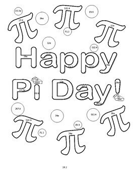 Pi Day Volume of Cylinders, Cones, & Spheres Color Sheet