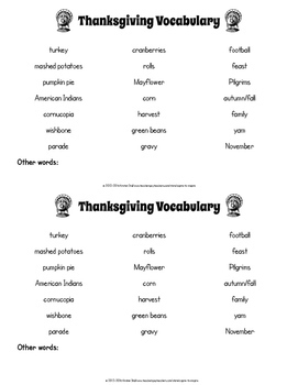 FREEBIE Pick the Thanksgiving Password Game: Sensory