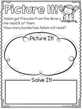 Picture This Story Problem BUNDLE {Addition and