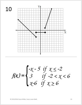Graphing Piecewise-defined Functions~Walk-Around Activity